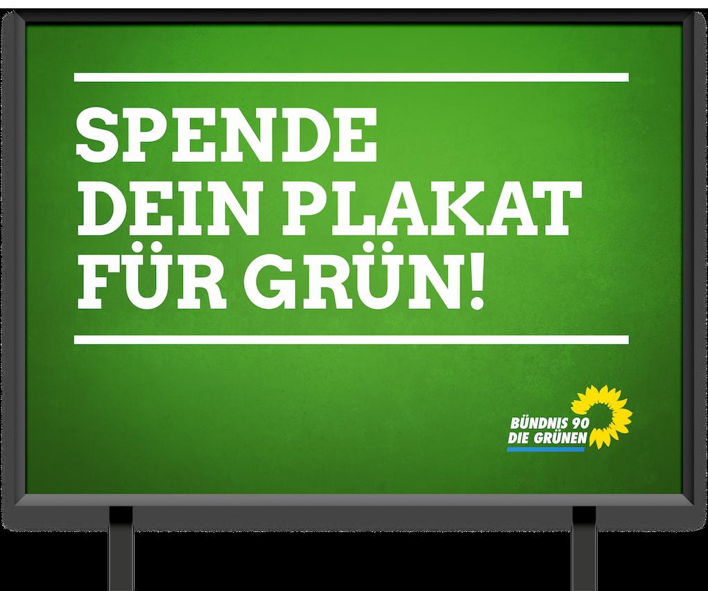 Grüne Plakatspenden